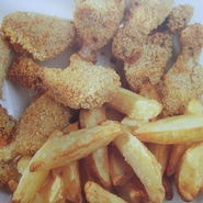 Pollo estilo americano con patatas asadas