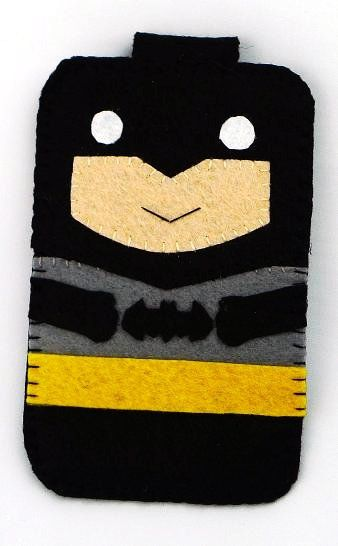 Hero collection Handmade Batman iphone, iphone 4S felt cell phone case (FREE SHIPPING)
