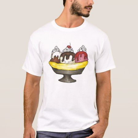Banana Ice Cream Sundae Split Foodie T-Shirt - tap to personalize and get yours
