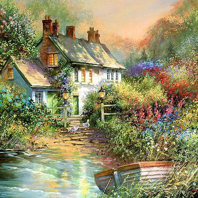 """Cross Stitch Pattern (Chart) """"The Lake House"""""""