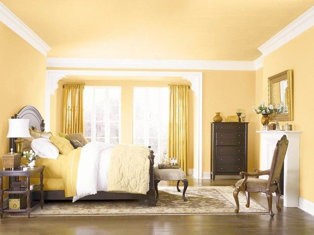 Sherwin Williams Butter Up And Extra White. Yellow BedroomsPainted ... Part 35