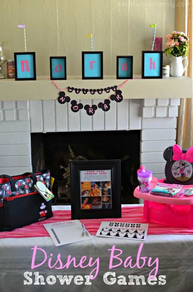 Disney Themed Baby Shower Games