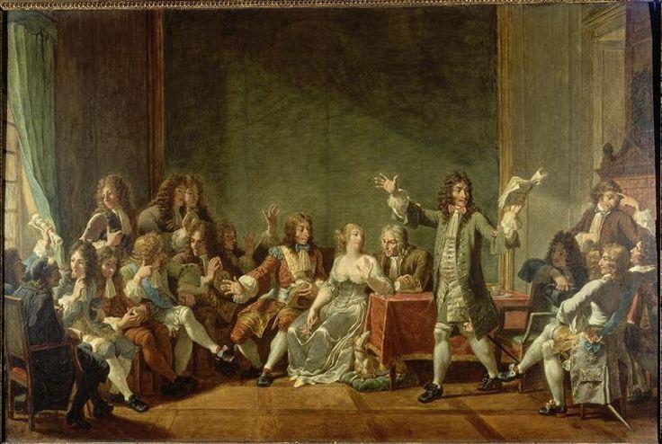 Nicolas André Monsiau, 'Molière lisant Tartuffe chez Ninon de Lenclos', 1802, oil on canvas, Paris: Biliothèque de la Comédie-Française.