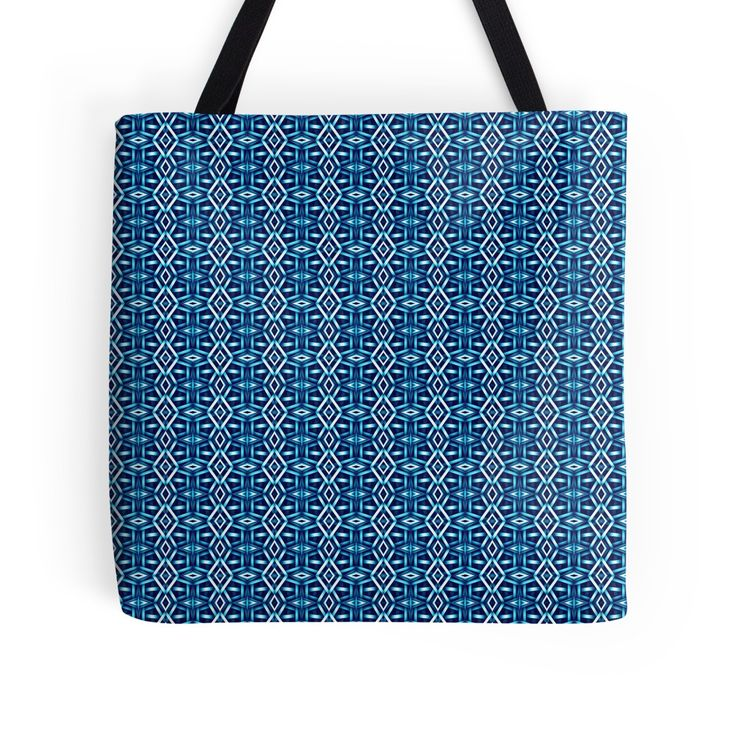 Meshed (Cerulean) Tote Bag by Terrella