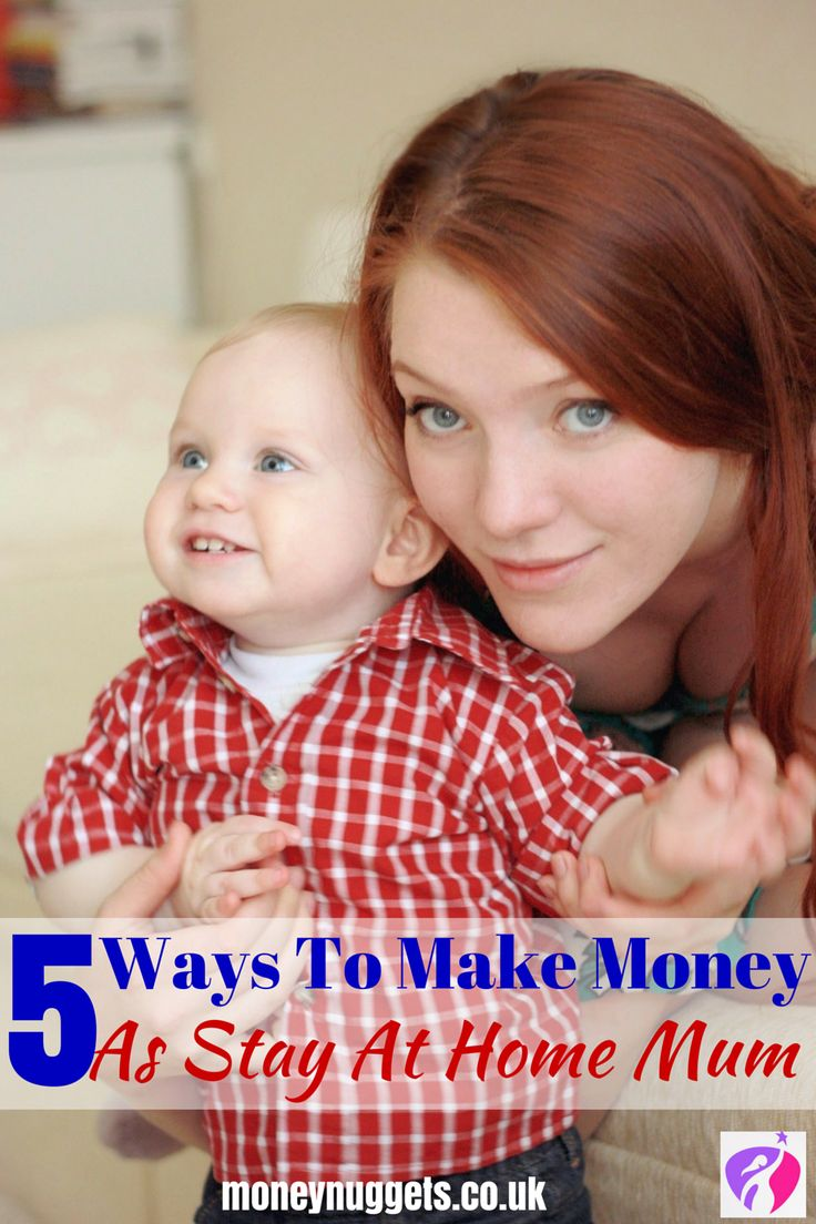 Being a stay-at-home mum has great advantages. However, if you're short on cash, here are 5 ways to make money whilst being a stay-at-home mum.