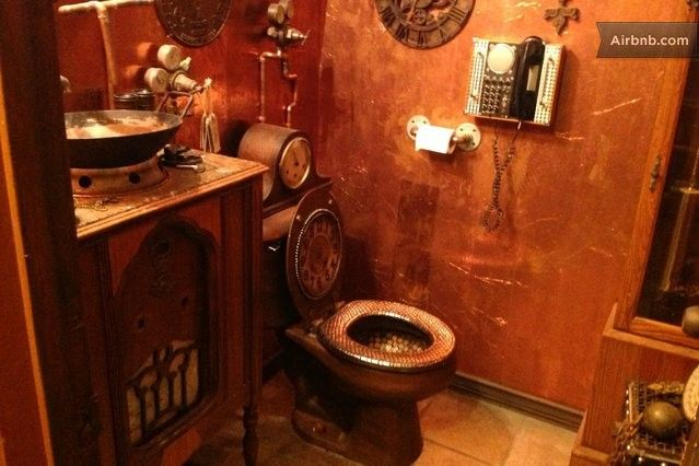 17 best images about house steampunk bathroom on for Steampunk bathroom ideas