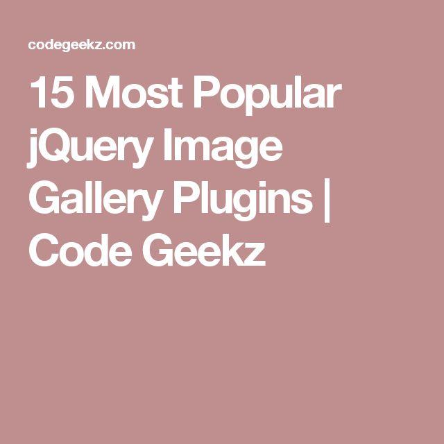 15 Most Popular jQuery Image Gallery Plugins | Code Geekz