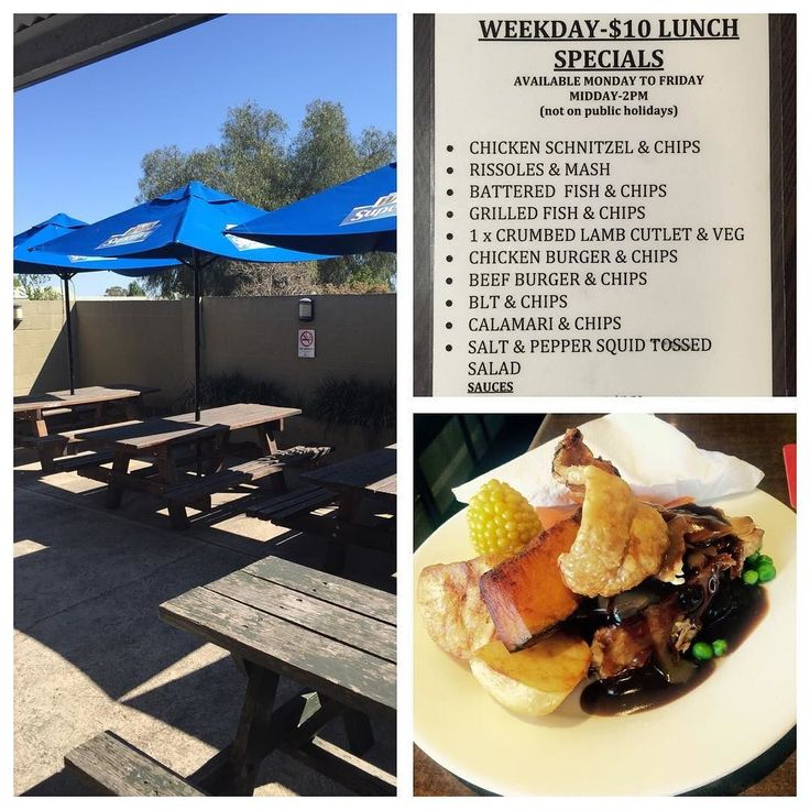 Friday Lunch Special- Roast Pork  crackle & Veg-$12. You could also try one of our $10 weekday lunches. Don't miss the joker draw tonight-$3900 and Happy hour from 4.30pm to 6.30pm $4 schooners.