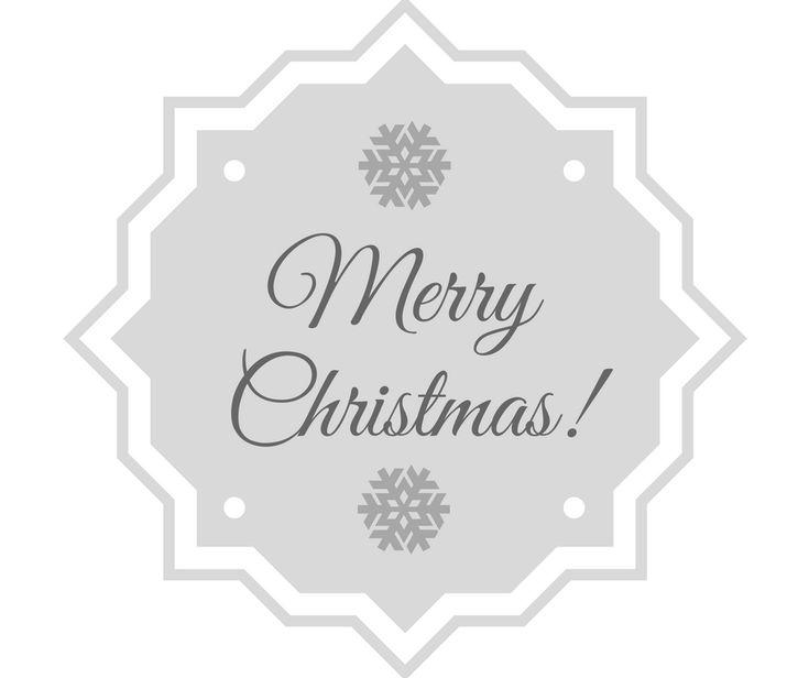 Merry Christmas - etykietka/stempelek do kartek.