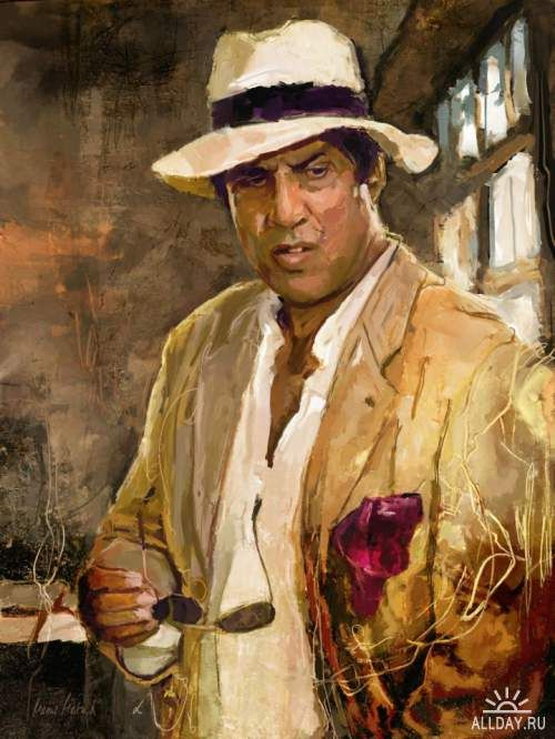 Adriano Celentano is an Italian singer, composer, comedian, actor, film director and TV host. He is the best-selling male Italian singer. Digital Art by Marius Markowski from Switzerland.