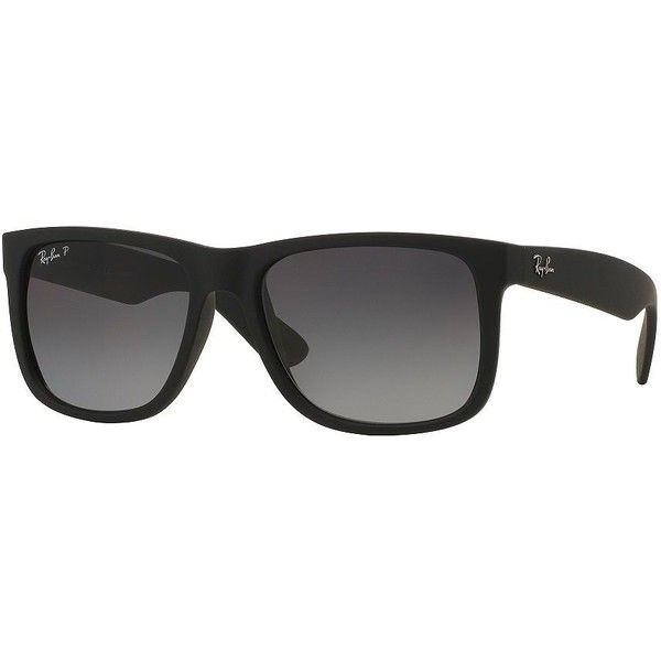 Ray-Ban Wayfarer Sunglasses (16420 DZD) ❤ liked on Polyvore featuring men's fashion, men's accessories, men's eyewear, men's sunglasses, charcoal, ray ban mens sunglasses and mens wayfarer sunglasses