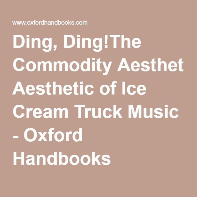 44 best books images on pinterest book covers books and salems lot ding dingthe commodity aesthetic of ice cream truck music oxford handbooks fandeluxe Gallery