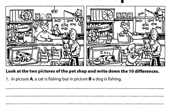 Grammar practice Spot the differences- present progressive tense ...