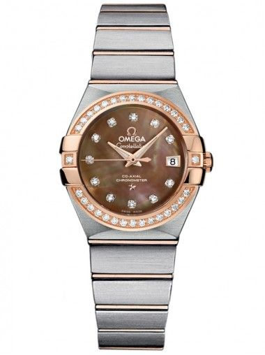 Omega Ladies 18ct Gold Automatic Constellation Bracelet Watch 123.25.27.20.57.001