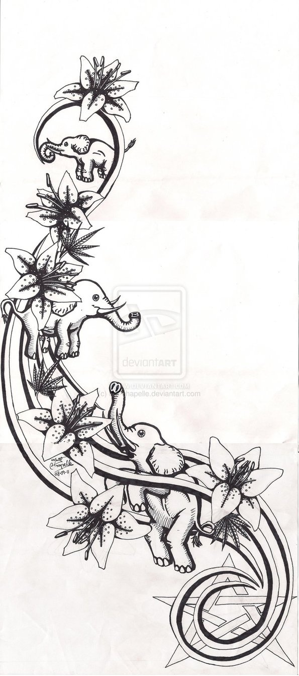 http://th08.deviantart.net/fs71/PRE/i/2011/251/7/f/lilies_and_elephants_tattoo_by_mc_chapelle-d497vlo.jpg