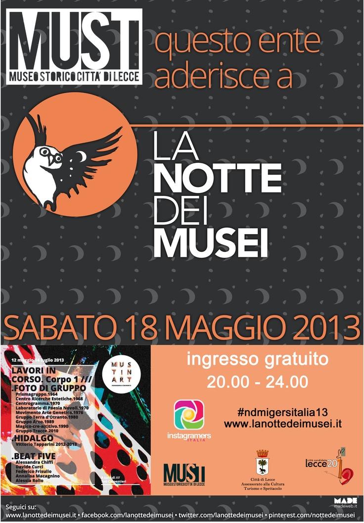 MUSTinART by night #Lecce #ndm13 #nottedeimusei