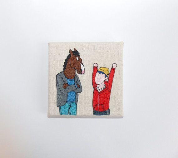 BOJACK HORSEMAN  Bojack et Todd silhouettes par 221Broderie sur Etsy