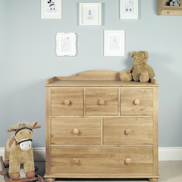 Amelie Solid Oak Changer / Chest of Drawers -  - Chest Of Drawers - Baumhaus - Space & Shape - 1