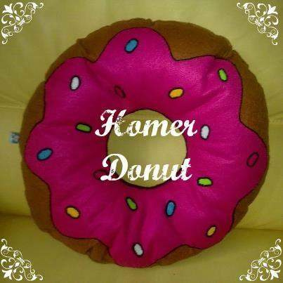 homer simpson donut pillow cuscino biscotto a forma della più famosa ciambella americana