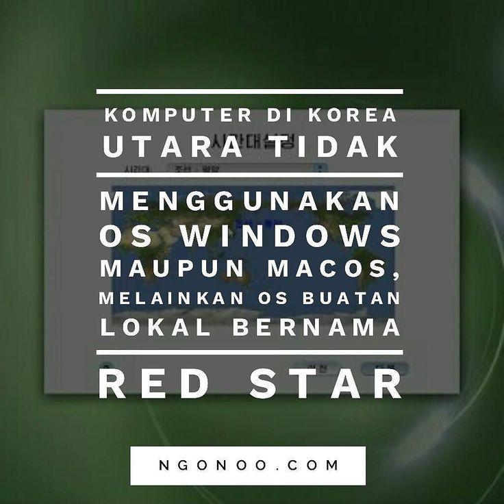 https://ngonoo.com Di Korea Utara walaupun boleh menggunakan komputer tapi bukan berarti sistem operasi (OS) yang digunakan pada umumnya seperti Windows atau MacOS.  Pemerintah Korea Utara memiliki sistem operasi buatannya sendiri yang bernama Red Star. Red Star merupakan OS yang hanya terdiri dari sejumlah aplikasi utama seperti aplikasi pengolah kata kalendar dan layanan musikoffline.OS tersebut memiliki desain yang mirip2 MacOS buatan Apple.
