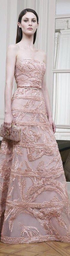pink elegant gown #fashion #pink #prom