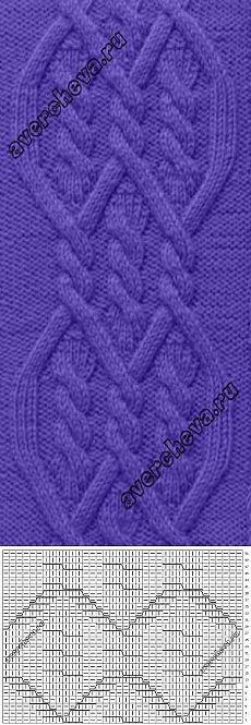 Узор 775 | каталог вязаных спицами узоров