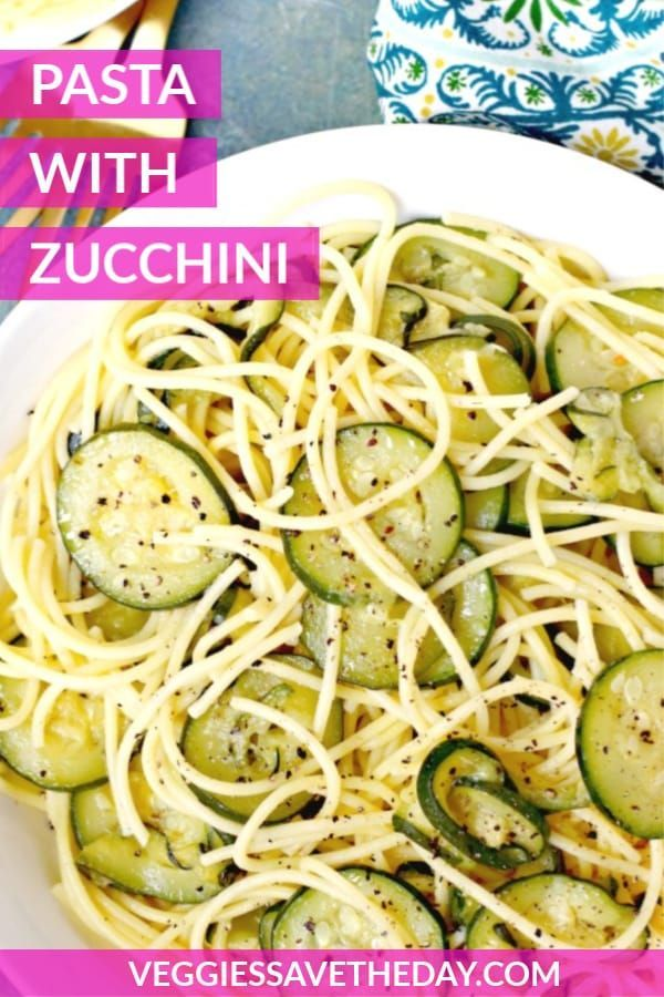 Pasta With Zucchini Courgettes