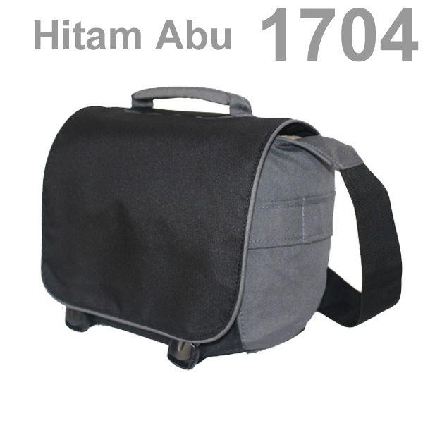 1704 Hitam Abu - TAS KAMERA