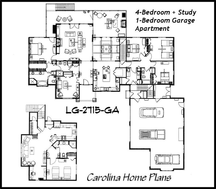 122 best open floor plans images on pinterest open floor for Open floor plan garage apartment