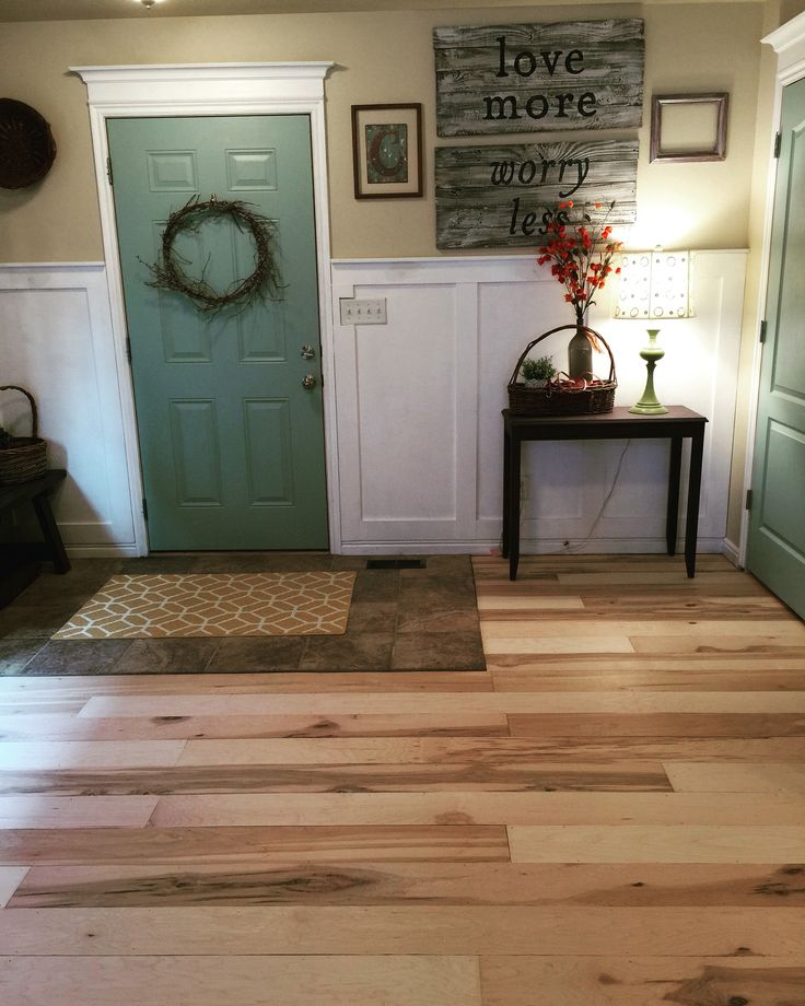 Maple plywood floor.