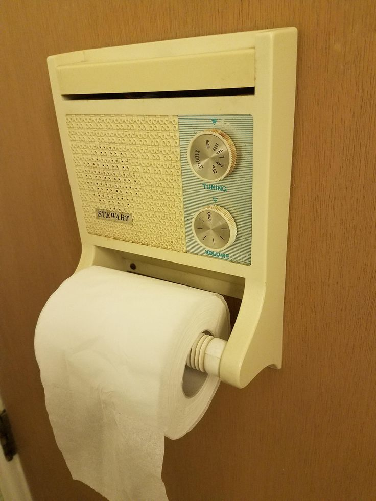 Fabulous My new place came with a toilet paper holder radio http ift