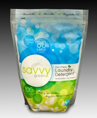 Savvy Green Eco-Clean Laundry Detergent   flexible packaging