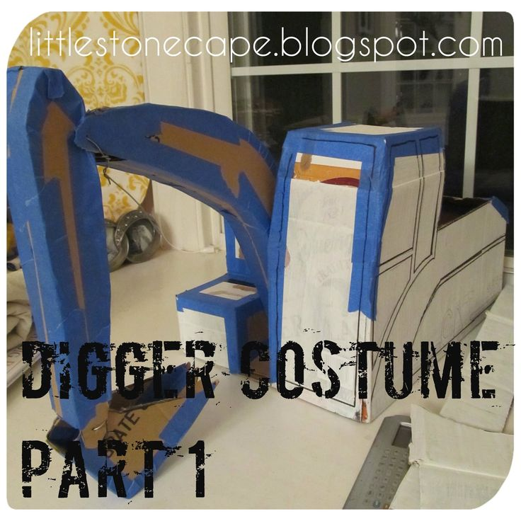 Halloween Costume Series #6   How to Make a Toddler Digger (Excavator) Costume       Finally I've gotten to the last costume in my series! ...
