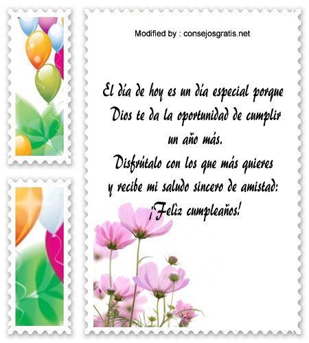 textos de feliz cumpleaños para enviar,textos de cumpleaños para enviar por Whatsapp: http://www.consejosgratis.net/felicitaciones-de-cumpleanos-para-facebook/