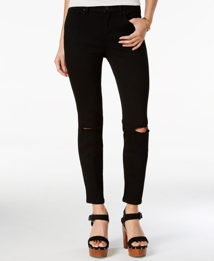 A flirty curvy fit and an endlessly flattering black wash make these skinny jeans from Jessica Simpson a total must-have. | Viscose/cotton/polyester/elastane | Machine washable | Imported | High rise