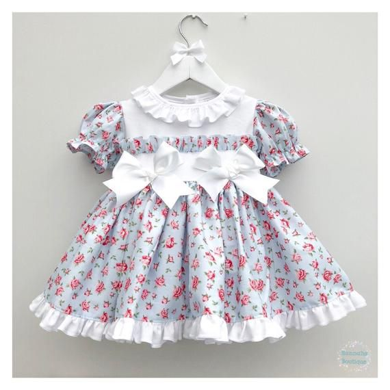 Hannahs Boutique Custom All Sizes 6 12 Month 5 6 Year Baby Etsy Vintage Baby Girl Frilly Dresses Dresses