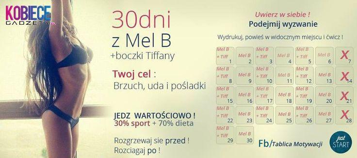 30 dniowe WYZWANIE z MEL B!!! Twój cel: Brzuch uda pośladki!!!