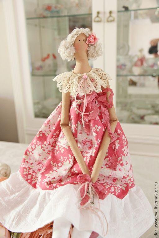 """Купить """"Беатрис"""" тильда - ярко-красный, тильда, тильда кукла, тильда ангел, тильда принцесса"""