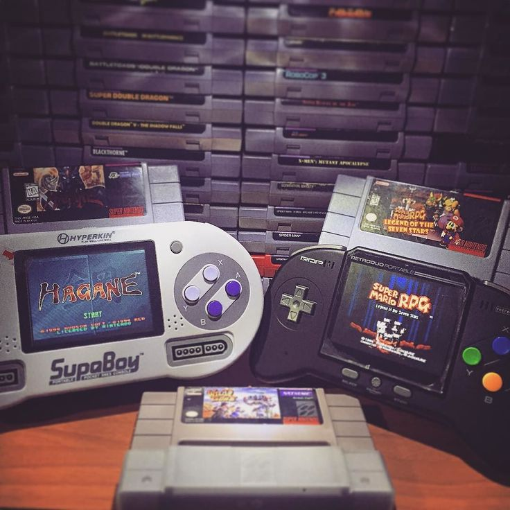 """Shared by tropicalbits #supernintendo #microhobbit (o) http://ift.tt/1USFVbM #vs RDP - which one is your favorite?  Ok so a lot of people always ask me which console is better between those two I can't answer that because at the end of the day is a matter of preference a like both and both got """"pros and cons"""" but if you ask me I like the RDP more than the Supaboy just because I can play NES Genesis and Snes on the same console and some Snes titles that the Supaboy can't such as Mario RPG…"""