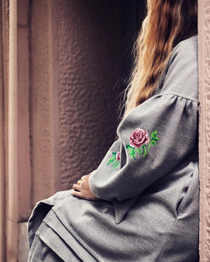 """Natasha Gelman"" embroidered coat// Karavan Clothing AW2015-16 #karavanclothing #karavan"