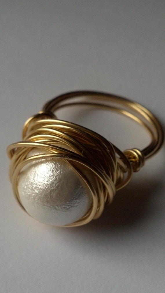 Pearl Gold Wrap Ring