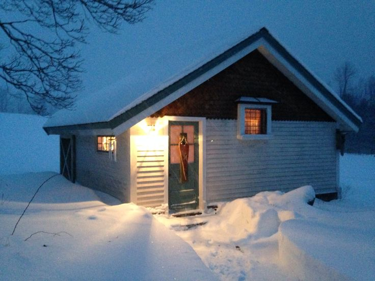 Our sauna in the winter