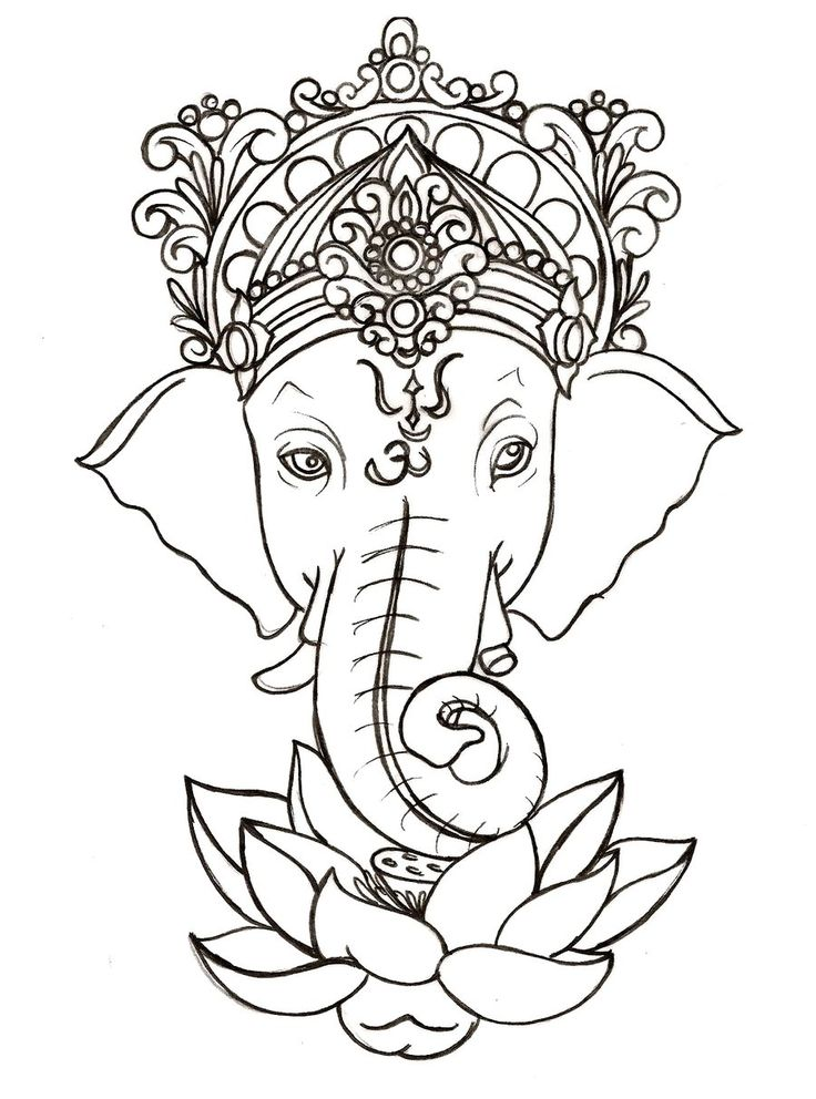 hippie elephant coloring pages - photo#3