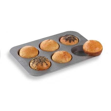 "Hamburger Bun and Mini Pie Pan... from King Arthur Flour $29.95 (makes a 4"" bun)"