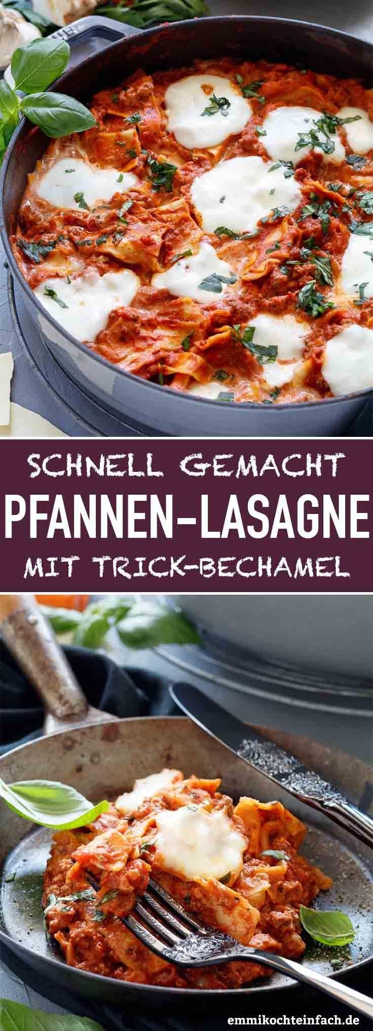 Schnelle Pfannen-Lasagne mit Trick-Béchamel