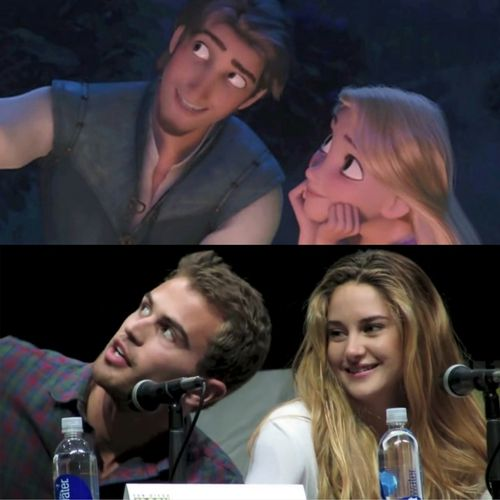 The ultimate comparison: Flynn + Rapunzel = Theo + Shai <3