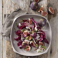 Radicchio-Salat mit Feigen und Pekannüssen