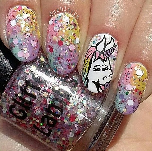 Candy Nail Polish: 23 Best Images About Unicorns Love Cotton Candy Nail