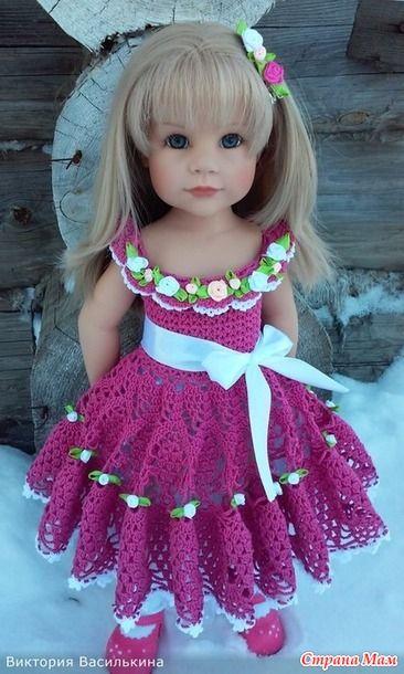 Здравствуйте! Предлагаю Вашему вниманию платья для кукол, всеми любимой фирмы Готц. Платья связанны мною из 100 % хлопка СОСО. Позируют мои Девочки: Валерия, Жизель 2003 г., Жизель 2006 г.