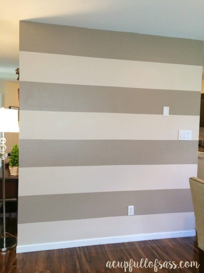 DIY Painted Wall Stripes